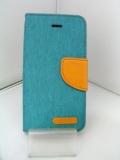 LibraLBR-SECD4GR iPhoneSEキャンバス手帳風カバー(緑)
