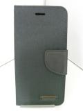 LibraLBR-6CD8BK iPhone6キャンバス手帳風カバー(黒)