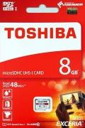 TOSHIBATHN-M301-0080-4 8GB microSDHC Class10 UHS-I R-48M