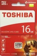 TOSHIBATHN-M301-0160-4 16GB microSDHC Class10 UHS-I R-48M