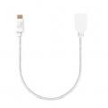 AREASD-U2AFCM15-WHM TypeCケーブル Toughest Wire TypeC-A(メス)-15cm USB2.0