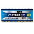LazosLA-T4X10 単4アルカリ乾電池 10本組み