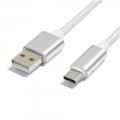 N/BTYPEC1m-SV Type-Cタフケーブル USB2.0 シルバー