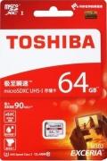 TOSHIBATHN-M302-0640-4 64GB microSDXC Class10 UHS-I R-90M