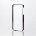 ELECOMPM-A16SPVMBK iPhone SE/5s/5用シェルカバー/サイドメッキ