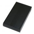 AOTECHAOK-35ALCASE-U3BK アルミ製ボディ 3.5インチ SATA→USB3.0 HDDケース ECOモード搭載 ブラック
