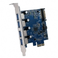 AOTECHAOK-USB3-4P USB3.0増設ボード 外部USB3.0x4 PCI Express