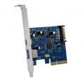 AOTECHAOK-USB-A1C1 USB TypeA&TypeC増設ボード 外部USB3.0x1 外部USB3.1x1 PCI Express