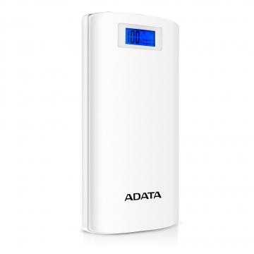 A-DATAAP20000D-DGT-5V-CWH 20000mAhモバイルバッテリー 入力2A 出力2.1A 2ポート ホワイト