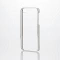 ELECOMPM-A16SPVMSV iPhone SE/5s/5用シェルカバー/サイドメッキ シルバー