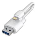 HIDISCHDLUF120C32GWH 32GB iPhone用メモリケーブル Lightning-USB