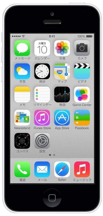 Appleau iPhone 5c 16GB ホワイト ME541J/A