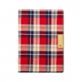 TrinityTR-FNIPD14-RC iPad Air 2 カードポケットスマートフリップ レッドチェック