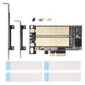 ainexAIF-06A M.2 SSD変換PCIeカード SATAコンボ