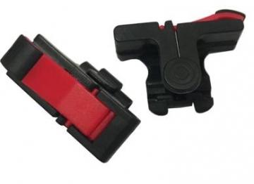 リーダーメディアテクノGCR-BR スマートホン用アナログゲームコントローラー(黒赤)